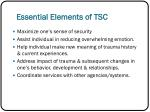 essential elements of tsc
