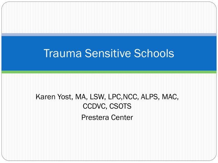 trauma sensitive schools n.