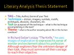 literary analysis thesis statement1