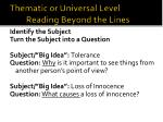 thematic or universal level reading beyond the lines