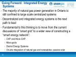 going forward integrated energy systems