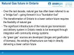 natural gas future in ontario