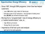 opportunities energy efficiency