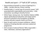 health and sport 2 nd half of 20 th century