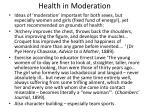 health in moderation