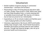 voluntarism