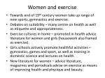 women and exercise