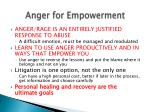anger for empowerment