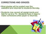corrections and grades