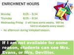 enrichment hours1