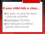 if your child fails a class