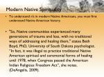 modern native spirituality