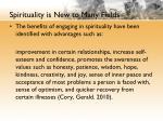 spirituality is new to many fields1