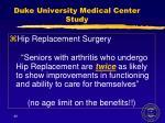 duke university medical center study