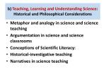 b teaching learning and understanding science historical and philosophical considerations1