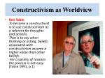 constructivism as worldview