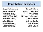 contributing educators