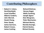 contributing philosophers