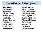 contributing philosophers1