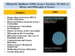 michael r matthews 1994 science teaching the role of history and philosophy of science