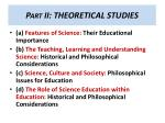part ii theoretical studies