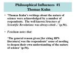 philosophical influences 1 thomas kuhn