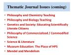 thematic journal issues coming