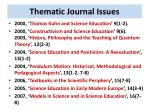 thematic journal issues1