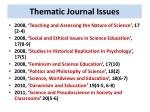 thematic journal issues2