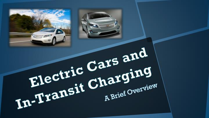 electric cars and in transit charging n.
