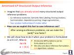 amortized ilp structured output inference
