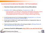 constrained conditional models ilp formulations
