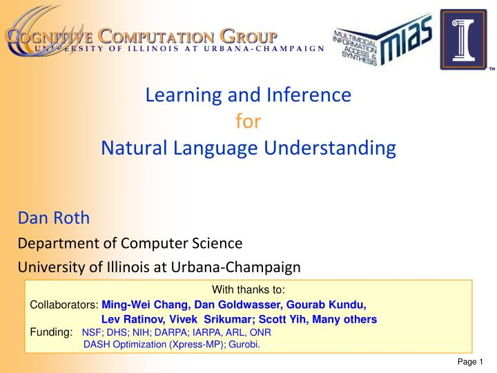 learning and inference for natural language understanding n.