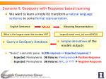 scenario ii geoquery with response based learning