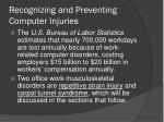 recognizing and preventing computer injuries
