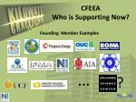 cfeea who is supporting now