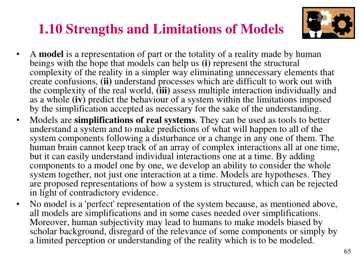 1.10 Strengths and Limitations of Models