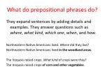 what do prepositional phrases do