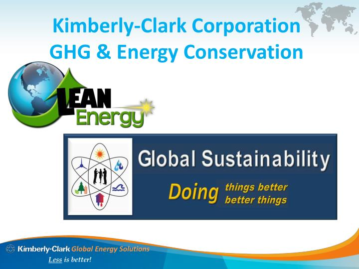 kimberly clark corporation ghg energy conservation n.
