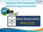 kimberly clark corporation ghg energy conservation
