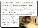 environmental impact the negative