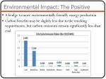 environmental impact the positive