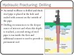 hydraulic fracturing drilling