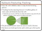 hydraulic fracturing fracking