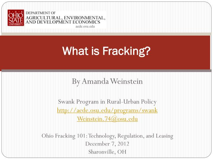 what is fracking n.