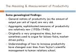 the meaning measurement of productivity1