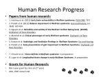 human research progress1