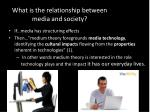 what is the relationship between media and society