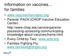 information on vaccines for families