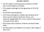 speaker details